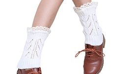 Prettysocks Women Fashion Lace Hollow Woolen Knitted Short Leg Warmers Legs Stocking * Check out this great product.