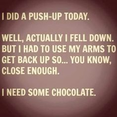 I did a push-up today