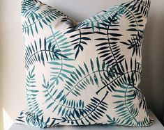 Eco-friendly and one of a kind hand printed pillow covers for inside and outside use! Sustainable Textiles, Sustainable Gifts, Decor Pillows, Throw Pillows, Cosmetics And Toiletries, Craft Bags, Decorative Pillow Covers, Shades Of Blue, Cotton Canvas