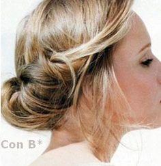 Peinado desenfadado de novia http://conbdeboda.blogspot.com.es/2013/06/de-novia-por-43999.html