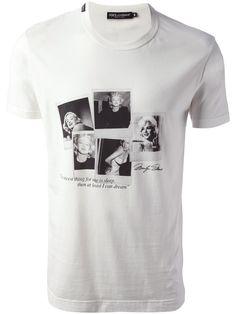 115d92d4 Dolce & gabbana Marilyn Monroe T-shirt in White for Men | Lyst Marilyn  Monroe
