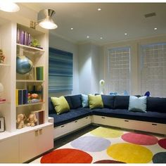 Built In Couch Playroom Design, Pictures, Remodel, Decor and Ideas#