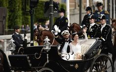 Waving to the wellwishers - Prince Carl Philip & Princess Sofia 13/6/2015