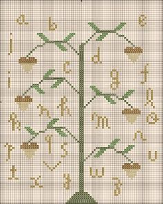 Oak Tree Sampler From Liberty House Primitives (Free Chart)