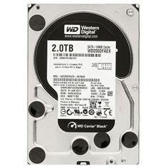 WD Black Desktop WD2002FAEX Disque dur interne 3.5'' SATA III 7200 tours/min Mémoire cache 64Mo 2 To