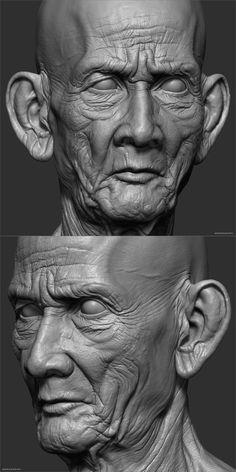 Hi guys, this is my anatomy study Sculpture Head, Human Sculpture, Face Anatomy, Anatomy Art, Character Modeling, Character Art, Character Design, Volume Art, Anatomy Sculpture