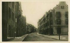 Møre og Romsdal fylke Aalesund Kirkegaten tidlig 1900-tall Utg J. Aarflot