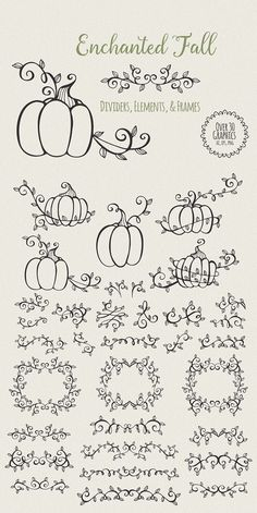 Enchanted Fall Elements by Kaerie Ann on @creativemarket
