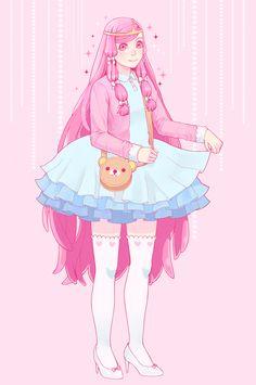 Bubblegum by Ayichii on DeviantArt Creepy Cute, Pastel Goth, Bubble Gum, Adventure Time, Cute Art, Arms, Kawaii, Deviantart, Illustration