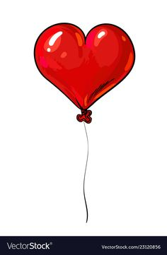Red balloon in shape of heart valentines day vector image on VectorStock Valentines Day Drawing, Valentines Diy, Flower Phone Wallpaper, Love Wallpaper, Balloon Cartoon, Valentines Illustration, Balloon Illustration, Eid Crafts, Happy Birthday Video