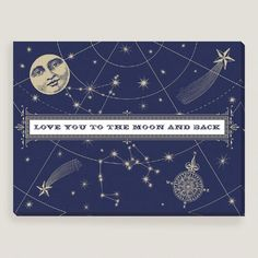 One of my favorite discoveries at WorldMarket.com: Navy Love You to the Moon by Shelley Weir