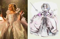 Sandy Powell's sketches for the film Cinderella.