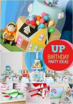 Disney inspired UP Movie First Birthday Party Ideas www.spaceshipsandlaserbeams.com