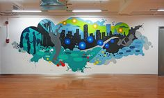 NYC Office Graffiti Mural