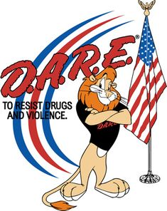 I remember the D.A.R.E. program in school, but that lion...??