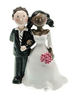 Figurine pour gateau de mariage mixte