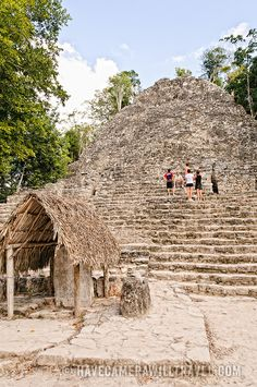 The three main areas that can be viewed in the Coba Ruins are the Nohoch Mul structures (main pyramid), Conjunto Pinturas (spiritual area) and Macanxoc structures (close to the lagoon that bears the same name)