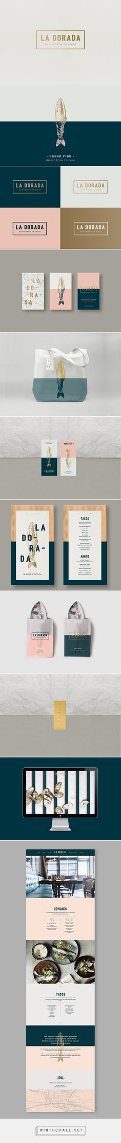 La Dorada - a seafood bistro on Behance - created via https://pinthemall.net