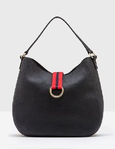 #Boden Toulouse Shoulder Bag Black Women Boden, Black #This is your favourite slouchy style, all grown up in grainy leather with a beautiful spotty sateen lining. The roomy design fits all of your day-to-day essentials, while the clever magnetic snap closure keeps it all safe. The one-strap design means it stays on your shoulder - no more sliding off, hurrah.