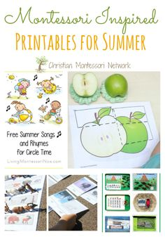 Free Montessori inspired printables for summer as featured on the Learn & Play Link up party. www.ChristianMontessoriNetwork.com