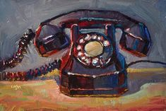 """Old Automatic Electric Telephone"" - Original Fine Art for Sale - © Raymond Logan"