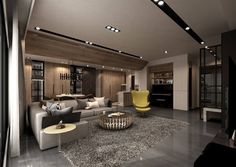 Living New Living Room, Living Room Modern, Living Room Decor, Ceiling Design Living Room, Living Room Designs, Lofts, Minimalist Interior, Glass House, Contemporary Interior