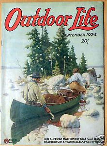 Outdoor Life 1924  Fishing and canoe