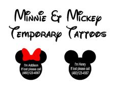 Mickey and Minnie Lost and Found Temporary Tattoos