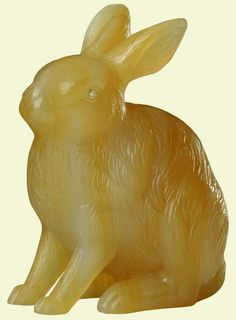 Hare | c. 1907:  Agate, rose diamonds