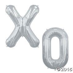 """XO"" Mylar Balloons"