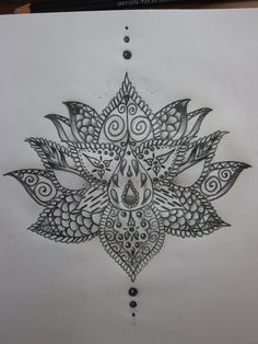 Lotus Flower Tattoo Design I drew up. Gonna bring it to a parlor to have an artist make it more symmetrical. Wish me luck, it's probably going to hurt