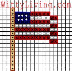free cross stitch patterns waving flag