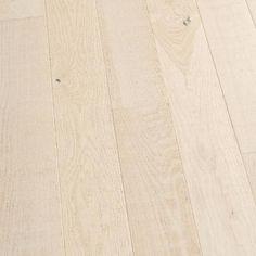 """6/"""" Brushed French Oak White Ale Engineered Floating Wood Flooring Plank Sample"""