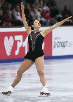 Mirai Nagasu of United States Ladies Free Skating Rostelecom Cup  2013, Black Figure Skating / Ice Skating dress inspiration for Sk8 Gr8 Designs.