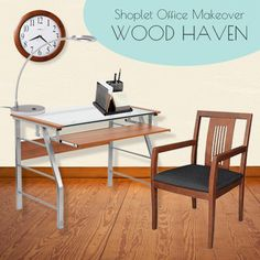 Shoplet #Office #Makeover #Collection 2 - Wood Haven. Feel inspired with homely wood furniture and accessories! Enter our giveaway to win your choice of 3 office collections.