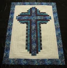 Log Cabin Cross Quilt By Lake Area Quilts Jasper Texas
