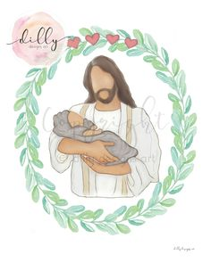 Multiple Miscarriages, Four Miscarriages, Four Losses, 4 Miscarriages, 4 Losses, Four Hearts, Christ Holding Baby, Baby Memorial, Infant Art Angel Baby Memorial, Funeral Gifts, Bereavement Gift, Stillborn, Holding Baby, Baby Memories, Infant Loss, Sympathy Gifts, Urban Art
