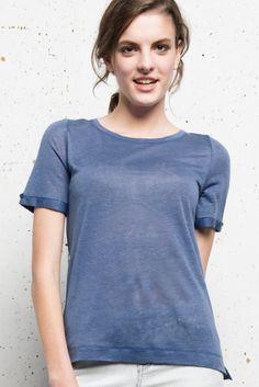 T-shirt Lin lana - Ateliers de la Maille