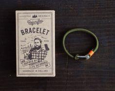 Handmade Paracord Sailor Bracelet/Armband Mens/Womens Camo Green/Orange