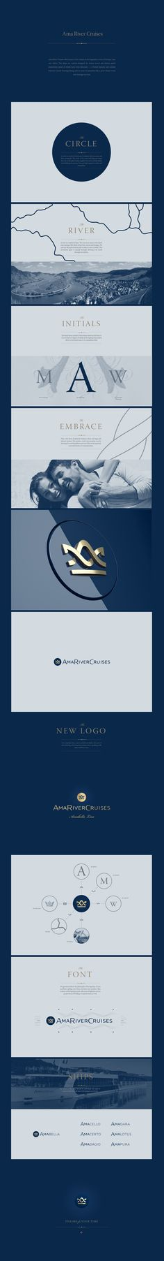 Ama River Cruises by Denis Ulyanov, via Behance #logodesign #logo #logotype #design #branding #logoped #Russia