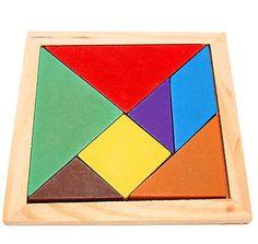 DIY Wooden IQ Game Jigsaw Intelligent Tangram Brain Teaser Puzzle Baby Kid Toy | Wooden Toys | Pre-School & Young Children - Zeppy.io