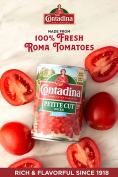 Contadina's petite diced tomatoes are made with fresh Roma tomatoes for the authentic, Italian flavor you know and love from Contadina. Great for all cooking occasions including quick dishes, soups, stews and even slow cooker recipes. Chicken Parmesan Recipes, Cauliflower Recipes, Healthy Chicken Recipes, Lentil Recipes, Beef Recipes, Soup Recipes, Manhattan Recipe, Macaroni Cheese Recipes, Halibut Recipes
