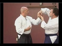 Aikido Basics: Morotedori Waza : Aikido Kaitenage Wrist Grab Defense - YouTube