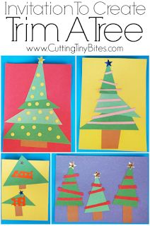 Invitation To Create: Trim A Tree Invitation to Create: Trim A Tree. Open ended, creative, quick and easy kids paper Christmas craft. Great for color and shape recognition. Perfect for toddlers, preschoolers, and elementary. Christmas Paper Crafts, Christmas Themes, Holiday Crafts, Christmas Holidays, Christmas Gifts, Christmas Vacation, Retro Christmas, Christmas Christmas, Simple Christmas