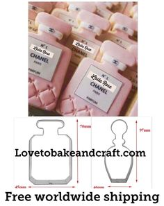 #Guccicookies #Guccicupcakes #Guccigumpaste #Chanelcookies#chanelcupcakes#ChanelNo5cookies #sugarpastechanelcookies #cocochanelcookies Chanel Cookies, Chanel Cupcakes, Chanel Cake, Cupcake Tutorial, Cake Topper Tutorial, Fondant Tutorial, Bottle Cake, Parfum Chanel, Bottle Cutter