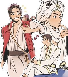 Aladdin and his Prince Ali form from Disney& live action movie, Aladdin Aladdin Disney Movie, Aladdin Live, Disney Princess Art, Disney Live, Disney Fan Art, Cute Disney, Disney Girls, Disney Magic, Disney Movies