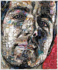 Turning trash into art! Zac Freeman art