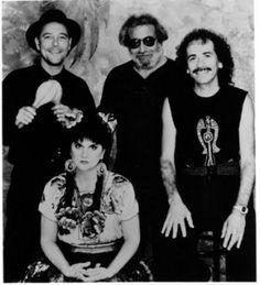 Rubén, Jerry García, Carlos Santana y Linda Ronstadt.