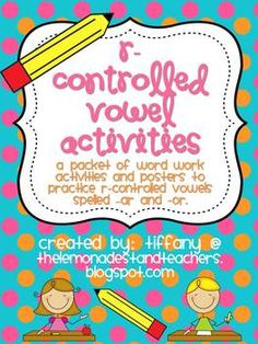 This packet of word work activities allows students to practice working with r-controlled vowel words spelled -ar and -or.  The packet includes two...