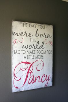 The Day You Were Born Girls Nursery Sign Wood Pallet Sign Girls Nursery Wallhanging Pink and Gray Nursery Decor Shabby Chic Nursery